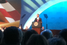 President Barack Obama Addresses the 2012 AIPAC Policy Conference